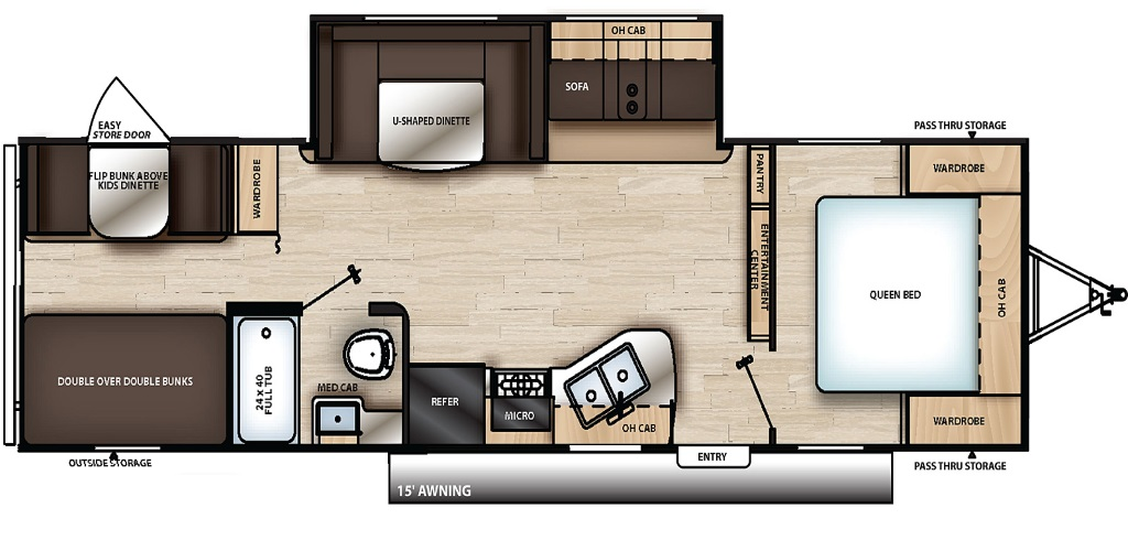 Image of floorplan for 2019 Catalina 291BHS by Coachmen RV