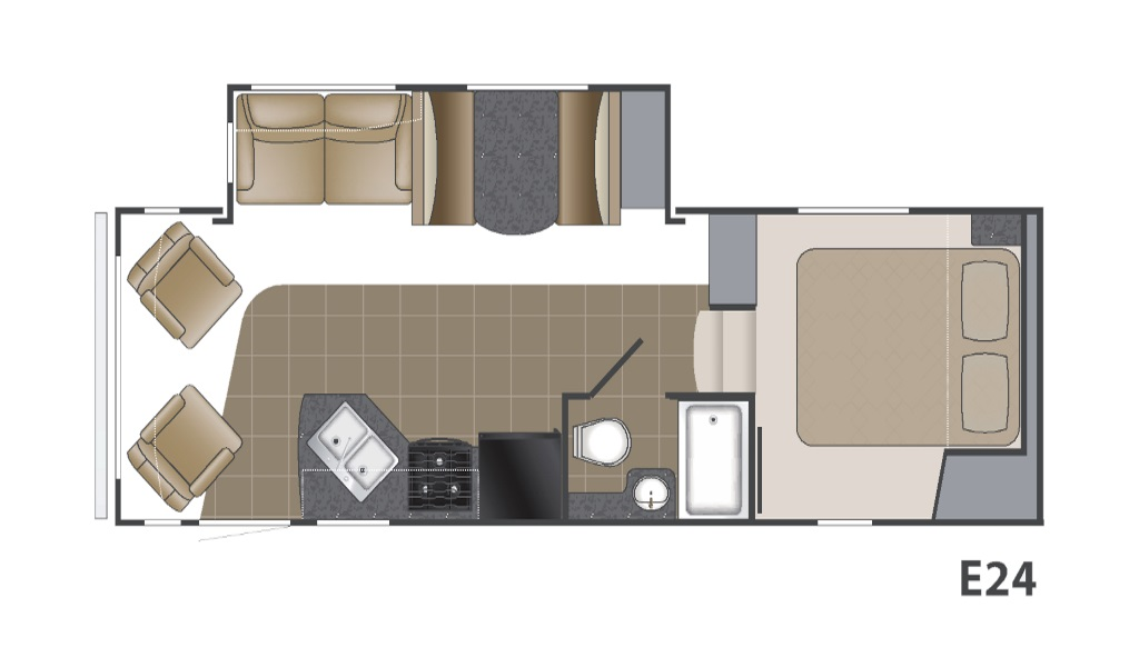 Image of floorplan for 2011 Elkridge E24 by Heartland