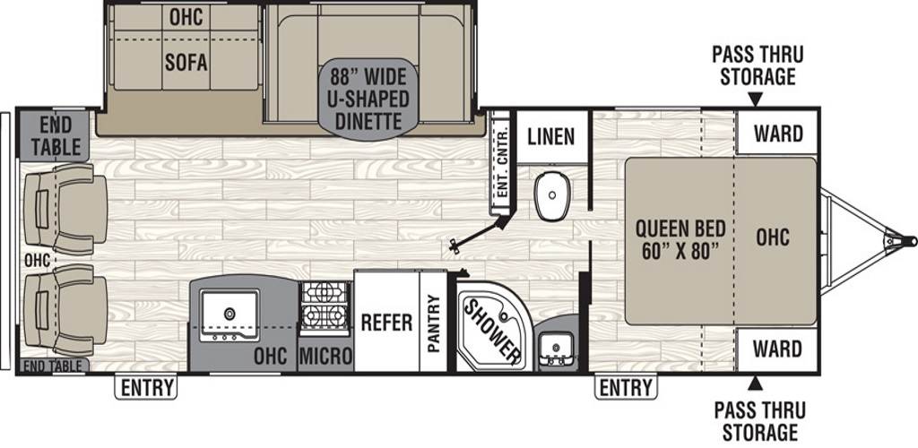 Image of floorplan for 2019 Freedom Express 28.1SE by Coachmen RV