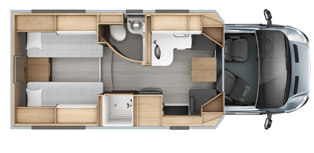 Image of floorplan for 2020 WONDER W24RTB by Leisure Van