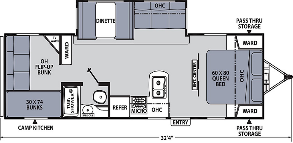 Image of floorplan for 2019 Apex 289TBSS by Coachmen RV