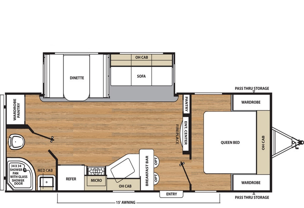 Image of floorplan for 2019 Catalina 243RBSLE by Coachmen RV