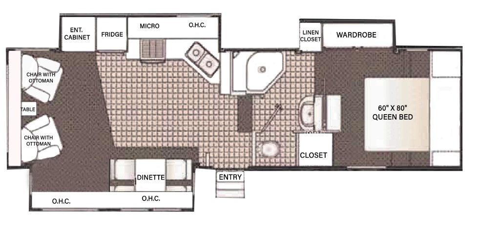 Image of floorplan for 2006 Titanium 29E34TS by Glendale