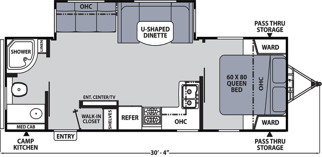 Image of floorplan for 2020 Apex 265RBSS by Coachmen RV