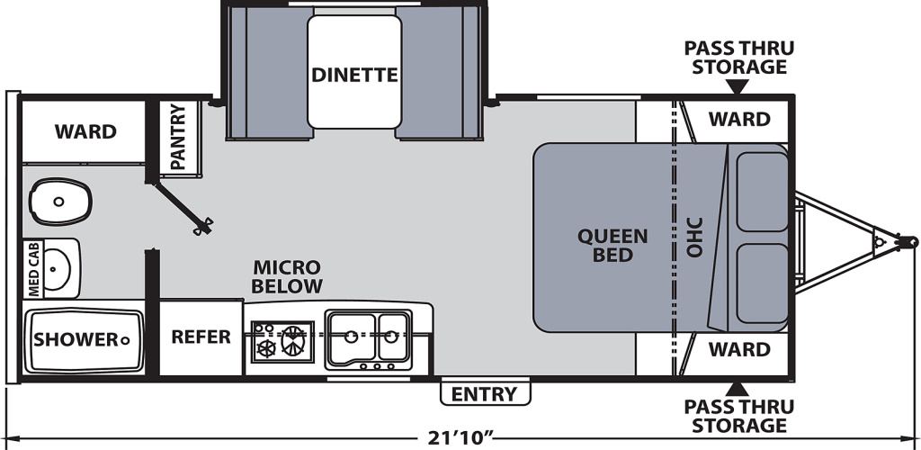Image of floorplan for 2020 Apex Nano 191RB by Coachmen