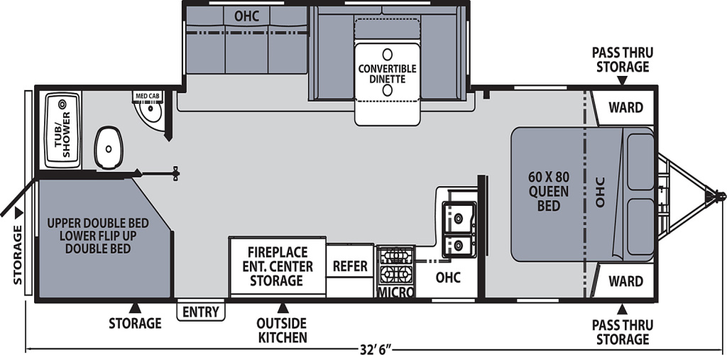 Image of floorplan for 2020 Apex 284BHSS by Coachmen