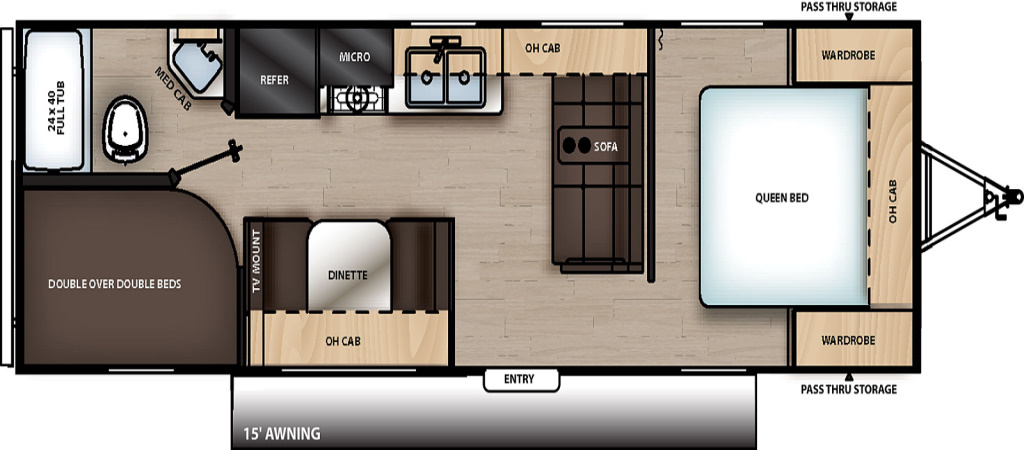 Image of floorplan for 2020 Catalina 261BH-8 by Coachmen