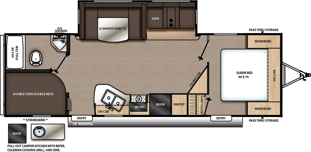 Image of floorplan for 2020 Catalina 263BHSCK by Coachmen