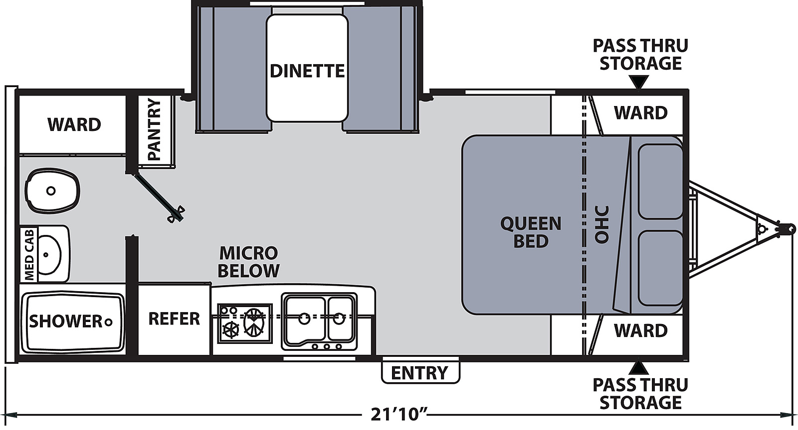 Floorplan for Apex Nano Ultra Light  model 191 RBS