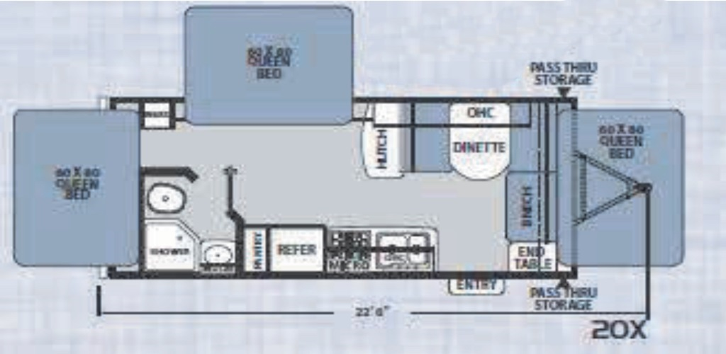 Floorplan for Apex Nano Ultra Light  model 20X