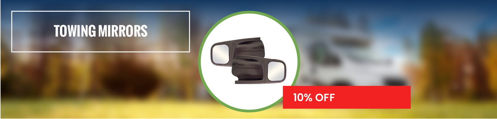 Towing mirrors 10% Off
